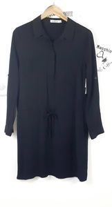 JustFab black tunic medium NWT